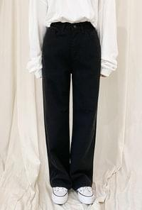 Straight fit cotton pants