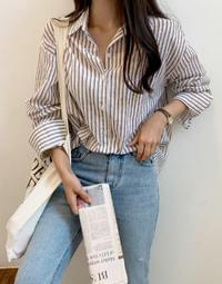 Coconut Stripe Shirt