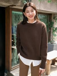 sleeve point wool knit