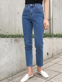 deep slim baggy denim pants