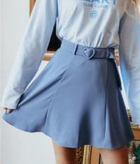Heart Flare Belt Skirt
