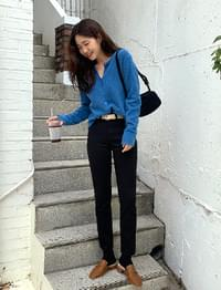 Slim line cotton pants_U
