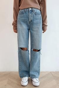 Long wide cutting denim