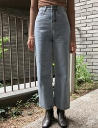 calm high-waist denim pants
