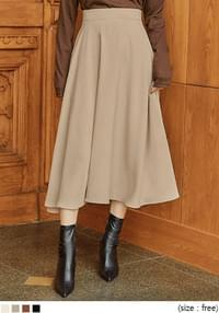 BUTLER FLARE BANDING LONG SKIRT
