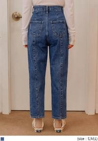 IRISH PINTUCK BAGGY DENIM PANTS