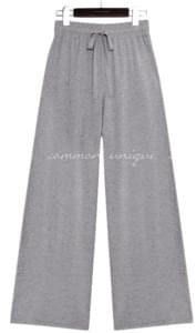 PEEKABOO CASH WIDE KNIT PANTS