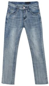 934 washing blue denim pants