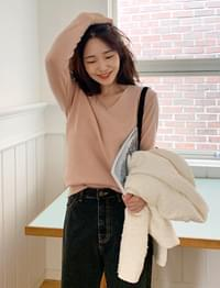 Anne v-neck wool knit_J (size : free)