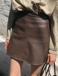 wearable leather skirt