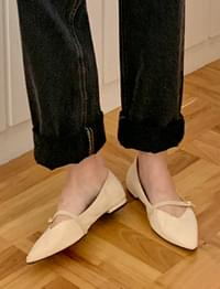 Sharp flat mary-jane shoes_J