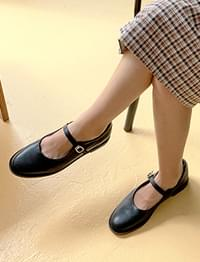 Solid mary-jane shoes_C (size : 225,230,235,240,245,250)