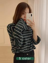 Color striped T-shirt _Y