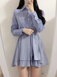 Street shirt collar dress
