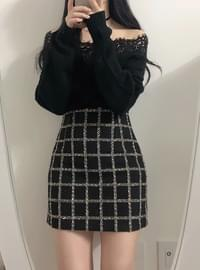 Duke tweed skirt
