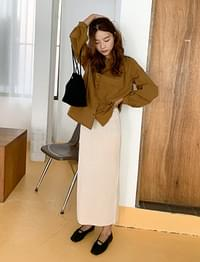 Take knit long skirt_C