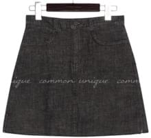 FRINGS SLIT DENIM MINI PANTS SKIRT