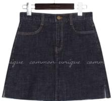 FRINGS SLIT DENIM MINI PANTS SKIRT 裙子