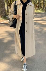 Monotone Single Trench Coat