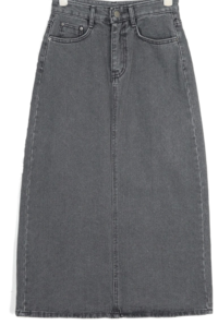 alika denim long skirts (s, m, l)