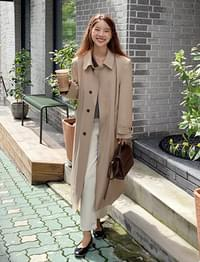 Feeling soft trench coat_C (size : free)