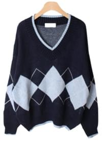 Roble Argyle Knit