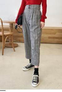 Wide Fit Check Pants