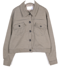 alan check short jacket
