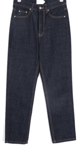 baldy stitch denim pants