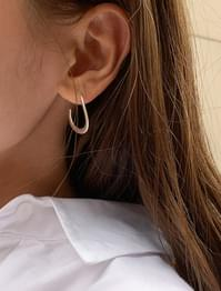 wave frame earring