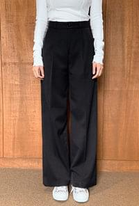 Wide Fit Pintuck Slacks