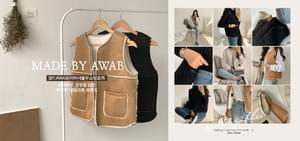 #AWABMADE:_Reversible Shearling Vest