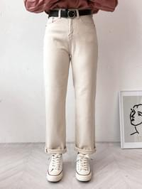 Oatmeal Straight Pants
