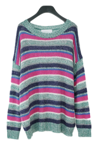 over-fit chunky mix color knit