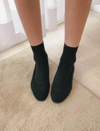 Muffin suede flat shoes _Y