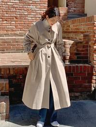 Wide collar trench coat_C