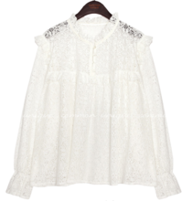 RAFFINE LACE FRILL BLOUSE