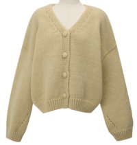 Bubble wool button cardigan_Y (size : free)