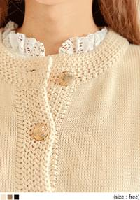 POMME LOOSE FIT KNIT CARDIGAN