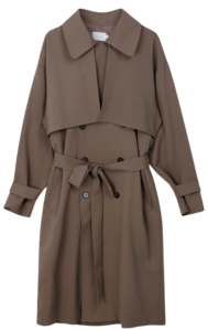 ESSAYStorm Flap Detail Double-Breasted Trench Coat