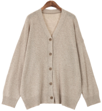 Wool loose fit cardigan