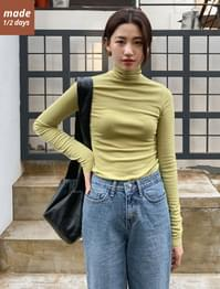 Slim Fit Cutting Turtleneck-tee 長袖上衣