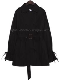 BENITO SHORT DOUBLE TRENCH COAT