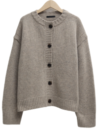 Weed wool button cardigan_C (size : free)
