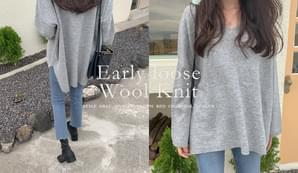 Early loose wool knit