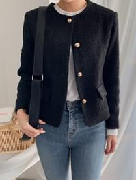 basic tweed short jacket basic tweed short jacket