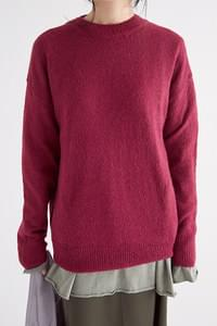 round simple knit (4colors)