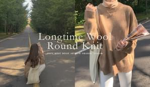 Long time wool round knit