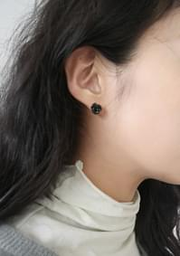 rose flat earrings