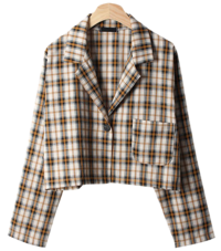 Beacon one-button check jacket